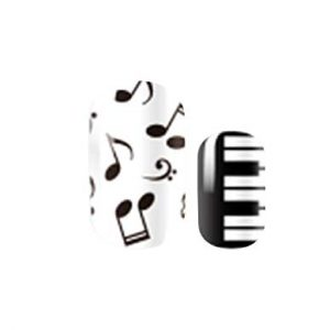 Musical print Nail wraps