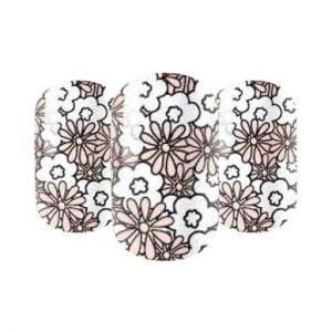 Floral nail wraps