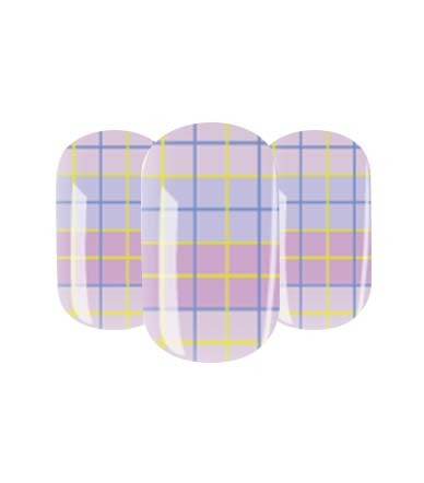 Plaid patterned nail wraps