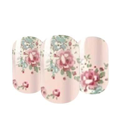 Floral nail wrap