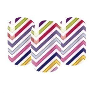 Funky striped nail wraps