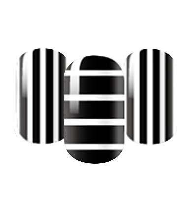 Black and white nail wraps