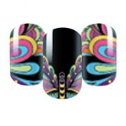 Butterfly nail wraps