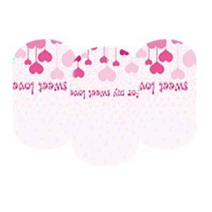Pink design nail wraps
