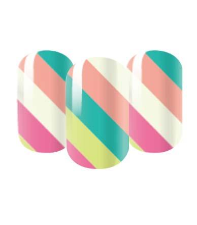 stripey nail wraps