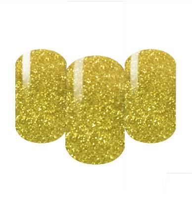 Gold glitter nail wraps