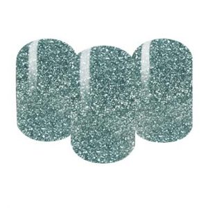 Green glitter nail wraps
