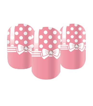 Pink polka dor nail wraps